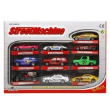 SET DE 10 COCHES METAL STREET MACHINE